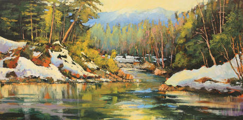 Snow Lit Banks by artistwilder