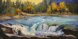 Atabasca Rapids by artistwilder