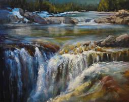 Elbow Falls By Bragg Creek by artistwilder