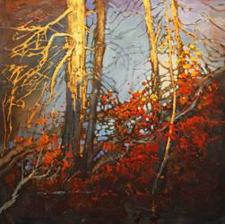 Falling Around The Creek by artistwilder