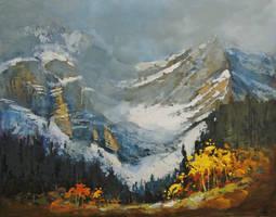 Early Autumn Afternoon, Jasper National Park by artistwilder