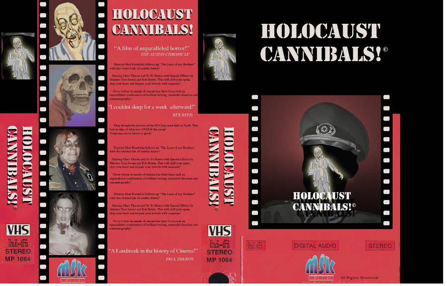 Holocaust Cannibals VHS box