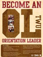 Orientation Leader flyer by WildeGeeks