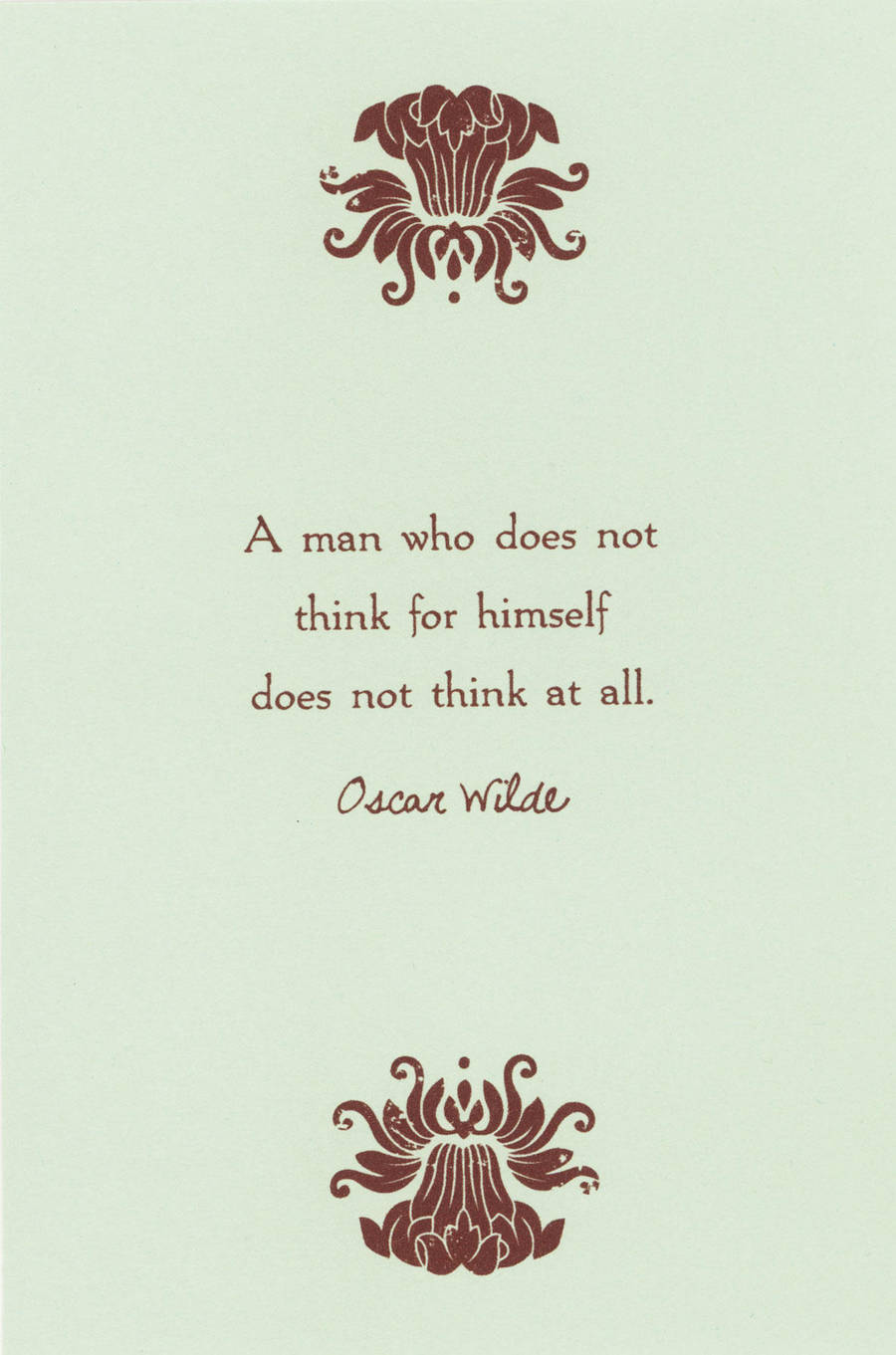 A Man Who Does Not Think by WildeGeeks