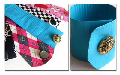 Duct Tape Cuff Bracelets by WildeGeeks
