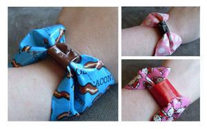 Duct Tape Bow Bracelets by WildeGeeks