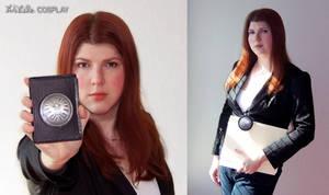 Natasha Romanov with Badge by WildeGeeks