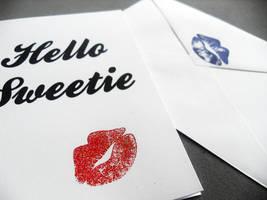 Hello Sweetie Card version 2 by WildeGeeks