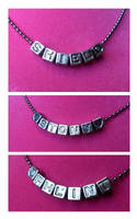 Marvel Word Necklaces by WildeGeeks