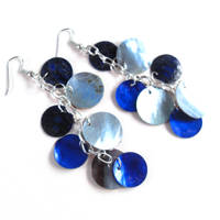 Mythical Scale Earrings in Lapis Lazuli by WildeGeeks