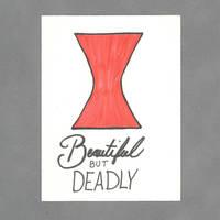 Beautiful But Deadly Art Card by WildeGeeks