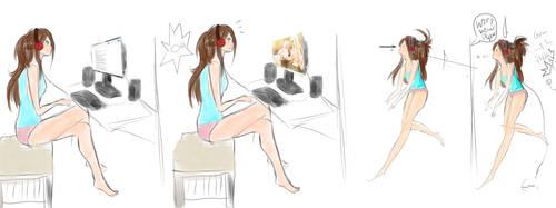 como cuando ves Yuri! by Kiaraanimex