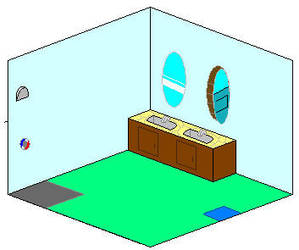 Isometric room by Dvandemon