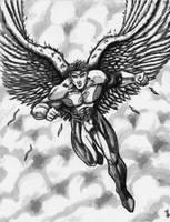 Angel GreyScale by KwongBee-Arts