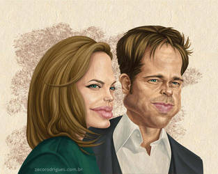 Brad and Angelina by zecorodrigues