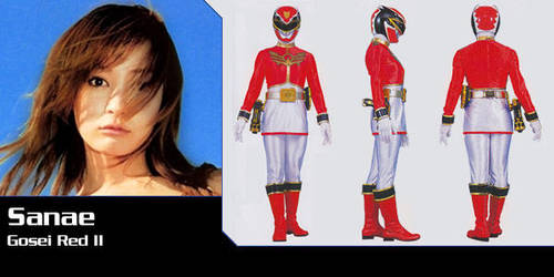 Sanae, Alata and Eri's daughter, new Gosei Red by Andruril93