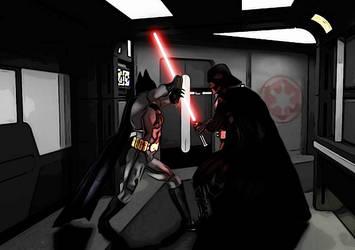 Batman VS Darth Vader by Andruril93