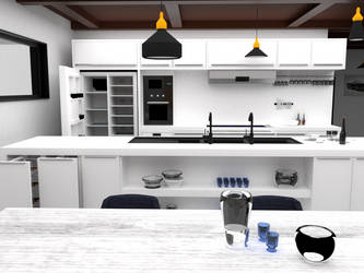 Kitchen -2 by hakancodur