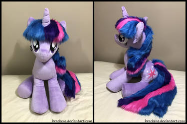 34 inch Twilight Sparkle plush by brackens