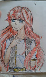 The Red Haired Girl by AyumiTheSmilingFox