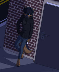 A Wolf at the Door by KattoTang