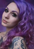 Lavender hair by AshtrayheartRomina