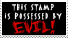 Evil Stamp...Stamp by P0W4H-L4D33