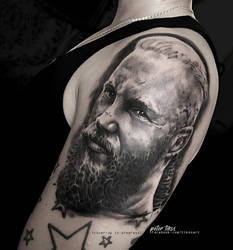 Ragnar piece in progress with cover-up by tikos