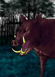 Wild Boar by Goenkeel