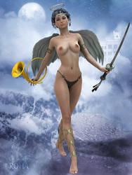 ROHA - Celestial Guardian - nude by ROHAphoto