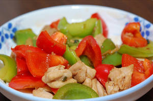 Stir Fry Chicken Bell Peppers by sweetcivic