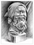 Pencil Sketch of Old Man by sweetcivic