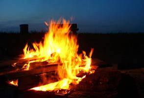 Bonfire at Night by sweetcivic