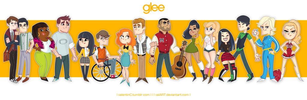 GLEE crew by ValArt