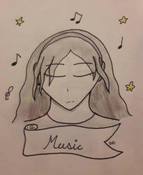 Inktober Day 3 - Music by MafiPaint