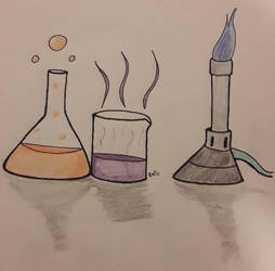 Inktober Day 4 - Chemistry by MafiPaint