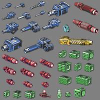Battlemech Weapons by pickledtezcat