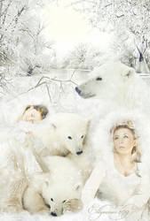 Snow Bear Totem Spirit by Ellyevans679