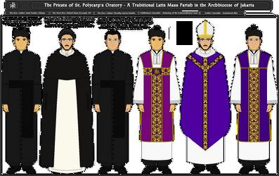 The Priests of St. Polycarp's Oratory by Admiralkim