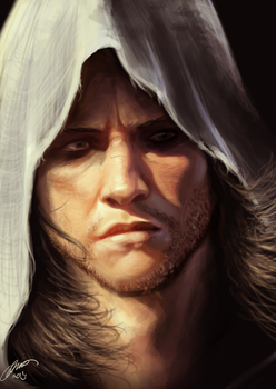 Edward Kenway - painting by jodeee