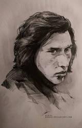 Kylo Ren - sketch 2 by jodeee