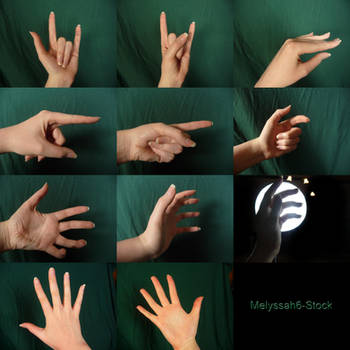 Hand Pose Stock - Various by Melyssah6-Stock