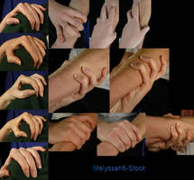 Hand Pose - Gripping - Shoulder/Arm by Melyssah6-Stock