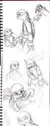 Turtle Doodles by akuma-neko