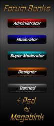 Forum ranks By Megabink by superbink