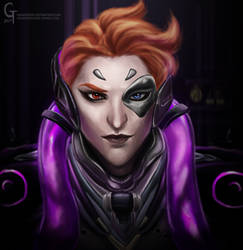 Overwatch Moira by Hamsterific