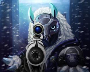 Overwatch Snow Owl Ana by Hamsterific