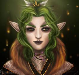 Wood Elf Druid by Hamsterific