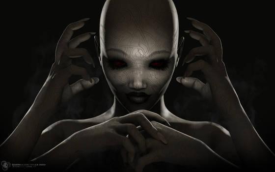A Hantu Demon, Weaver of nightmares by DarkGeometryArt