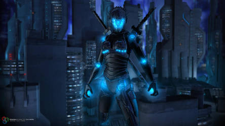 Android Ninja by DarkGeometryArt